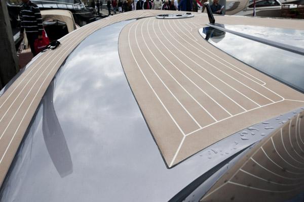 Esthec manufactures faux teak decking for yachts and megayachts