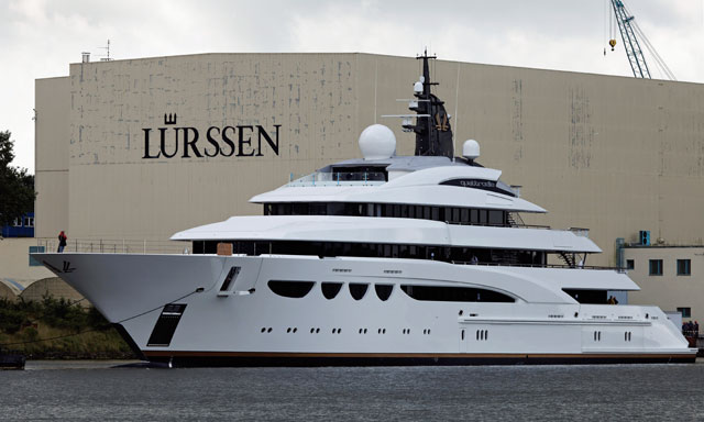 L rssen launches bellissimo now named quattroelle for Lurssen yacht genova
