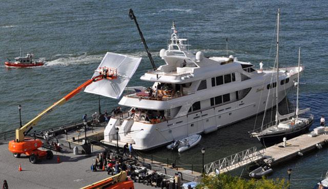 Leonardo Dicaprio Filming Movie Aboard Megayacht Lady M