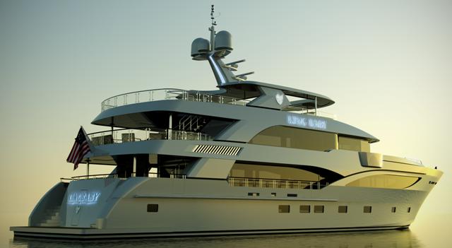 """140' IAG """"Noblestar"""" Yacht Model at the NY Boat Show"""