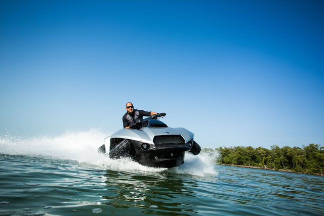 Gibbs Quadski Worlds First HighSpeed Amphibian at Miami Boat