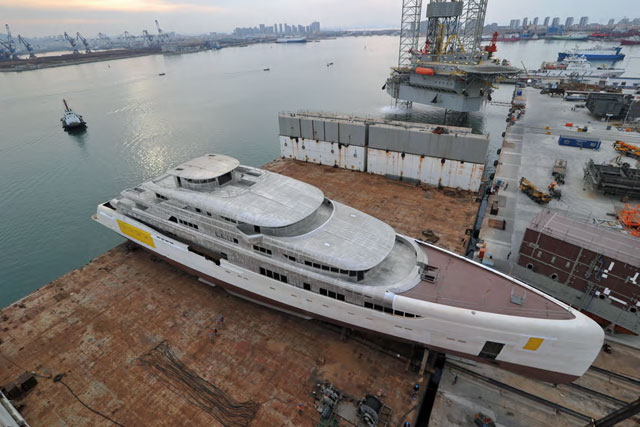 Largest Megayacht Made in China—Not Yet Finished—for Sale