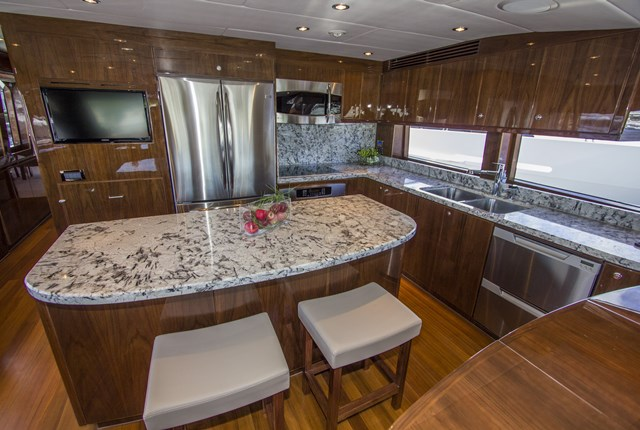 Hargrave Custom Yachts Bops galley Garrett Swartz
