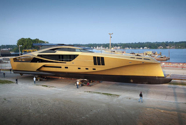 palmer johnson 48m supersport out from shed