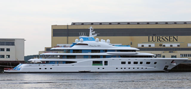 Lurssen Quantum Blue launch