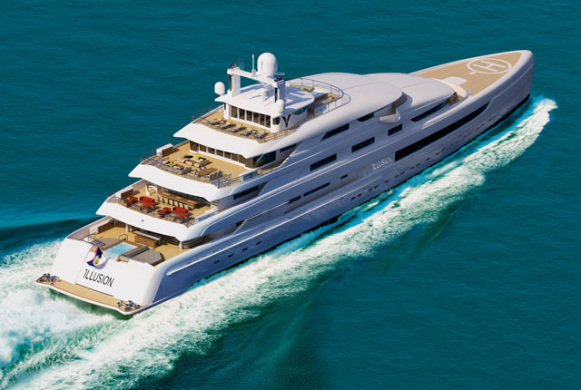 Pride Mega Yachts Illusion superyacht project