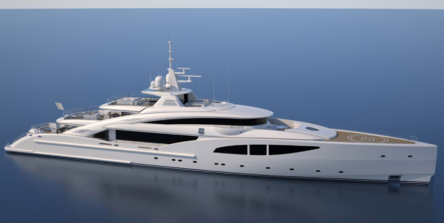ISA Yachts' Route 66 Superyacht in Build - Megayacht News
