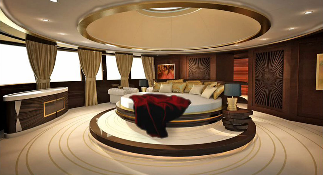 Superyacht Skyfall Interior: VIDEO