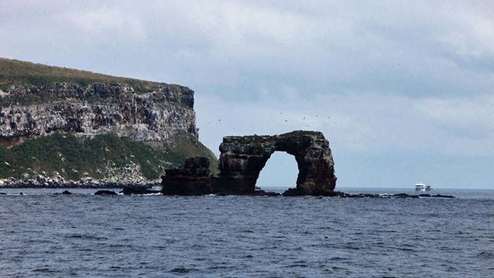 Galapagos arch dive site