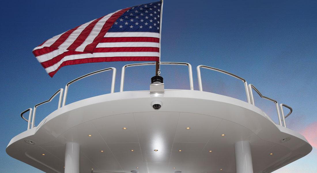 megayacht U.S. flag