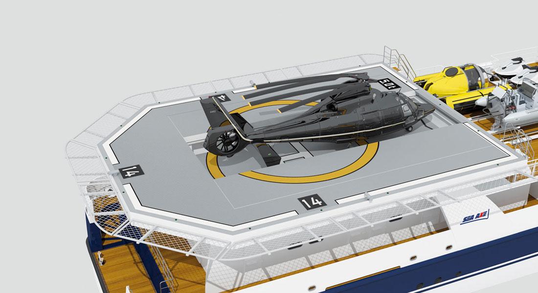 1st Sea Axe With Heli Hangar in Build