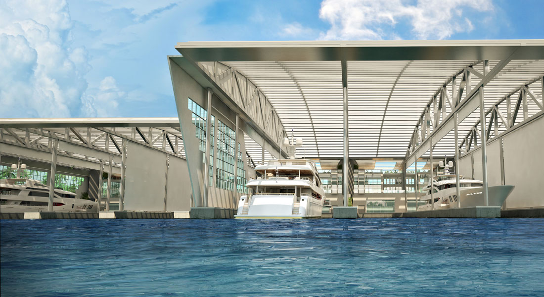 SeaVault, Covered Megayacht Marina, Coming to Miami