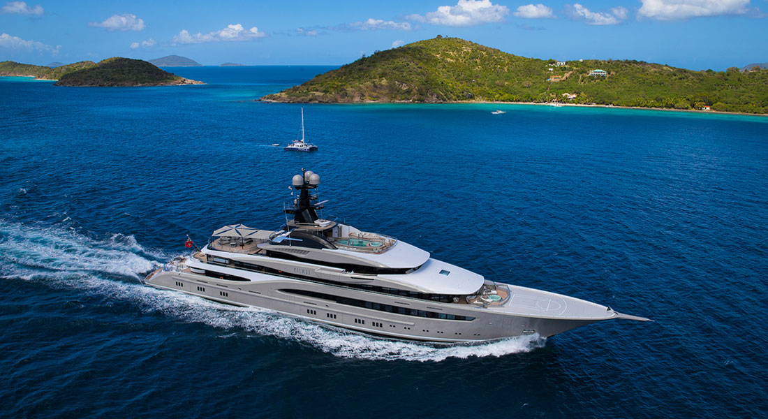 Lurssen Kismet Miami Yacht Show megayachts; where the megayachts are for Christmas includes Miami