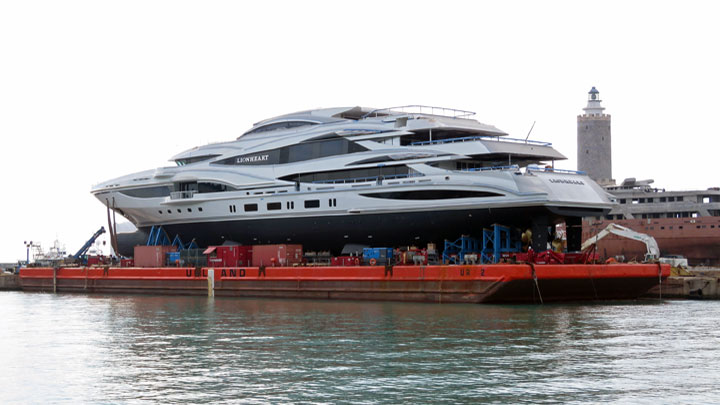 New Lionheart Launched, Benetti's Biggest Boat - Megayacht