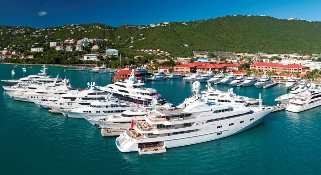 Yacht Haven Grande IGY Marinas St. Thomas; its a three-time Superyacht Marina of the Year award winner