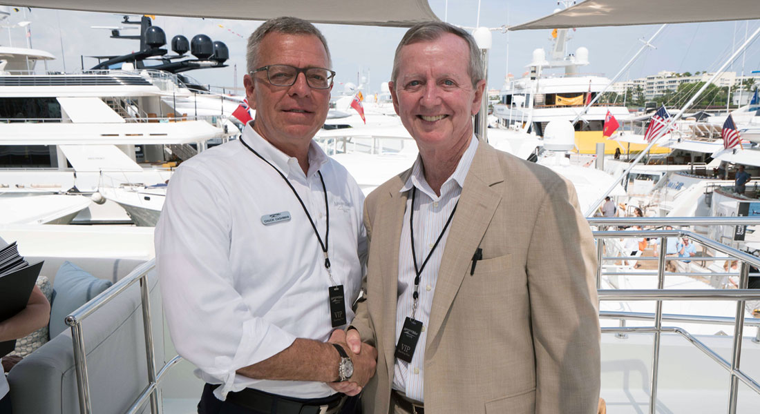 megayacht expert Bob Saxon and Chuck Cashman of MarineMax