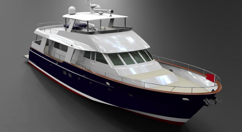 82 Flush Deck Motoryacht Hunt Design Front Street Shipyard