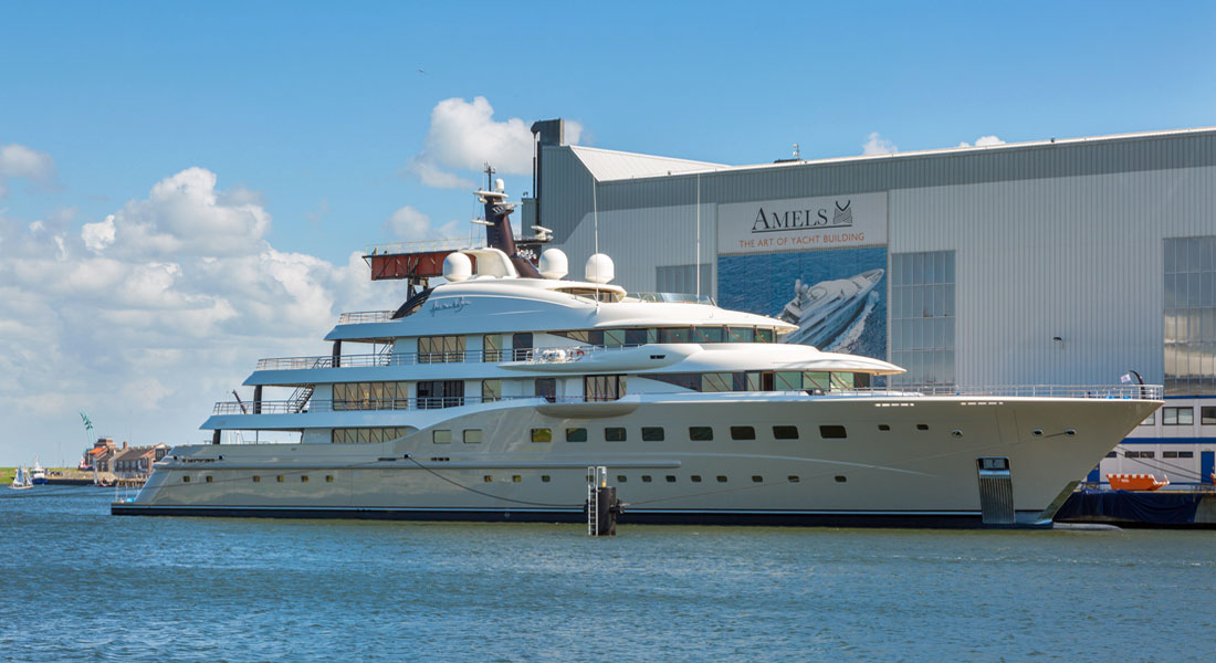 Here Comes the Sun, an Amels superyacht; the yard is now branded under Damen Yachting