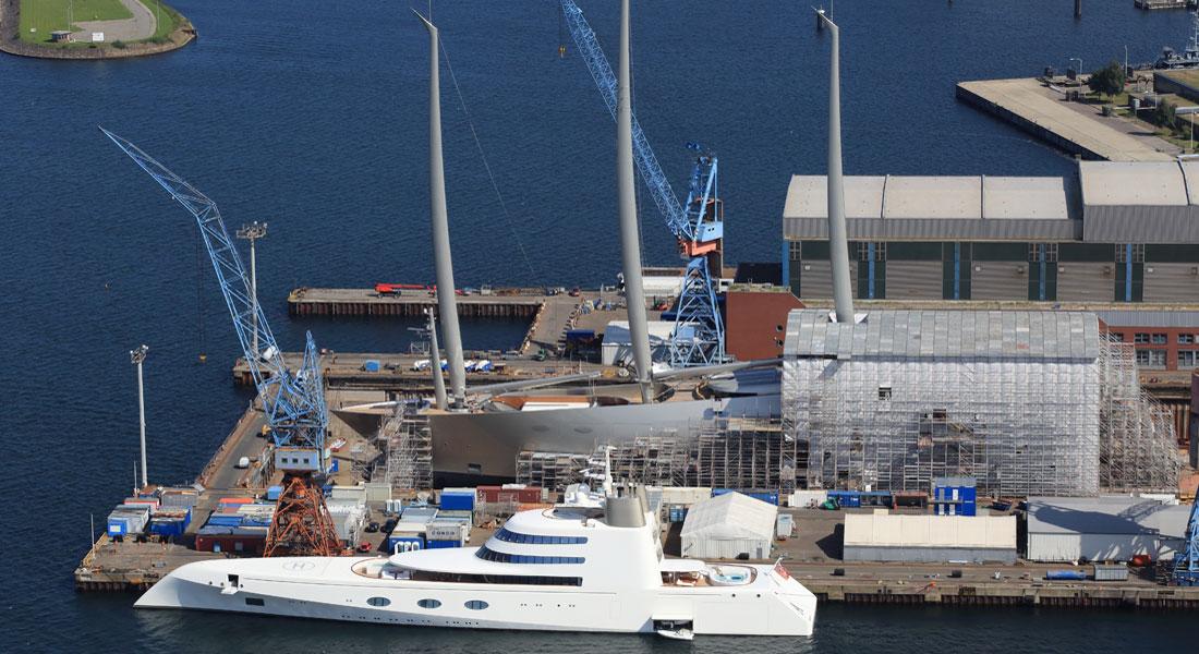 Motor Yacht A Meets Sailing Yacht A Megayacht News