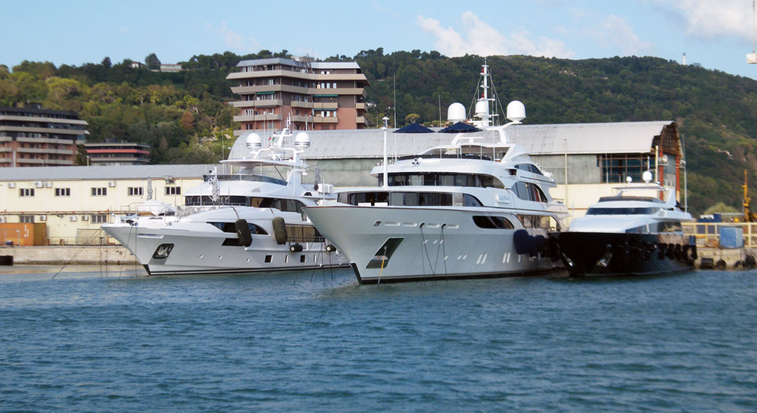 Cantiere Rossini superyacht refit shipyard