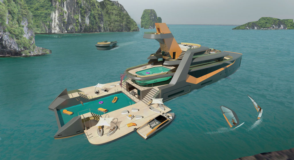 Henry Ward Design Time concept yacht