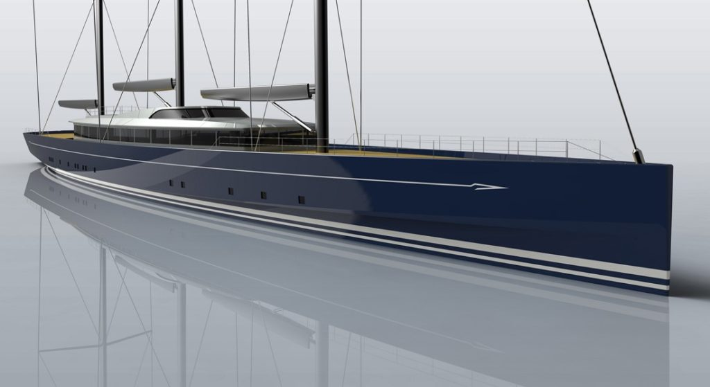 Royal Huisman Project 400 sailing superyacht