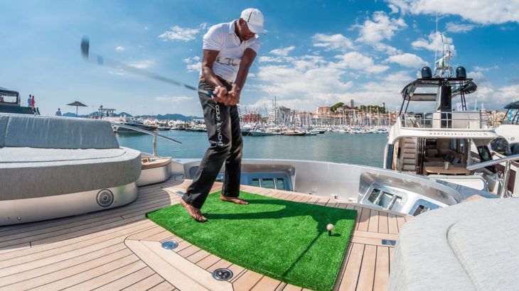 Fore hire golf yacht to come aboard megayacht news for Fish food golf balls