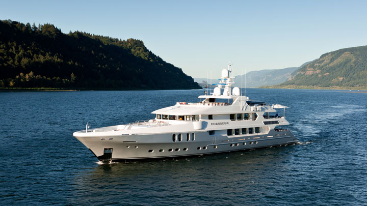 Christensen Chasseur; she is among the Superyachts in Miami for Super Bowl LIV