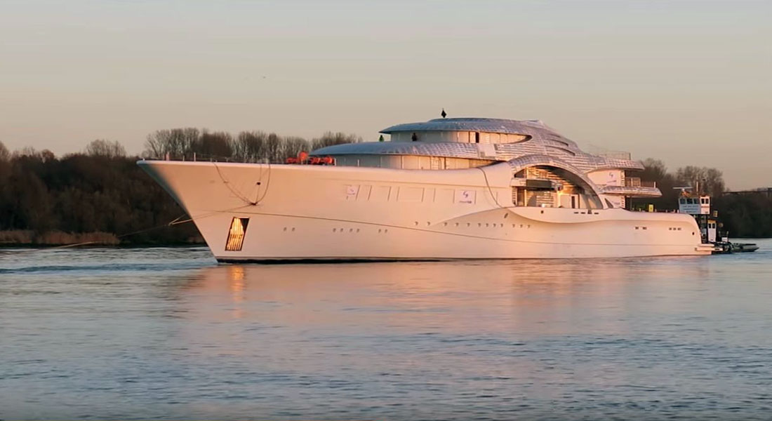 Feadship Project 1007 megayacht youtube screen grab