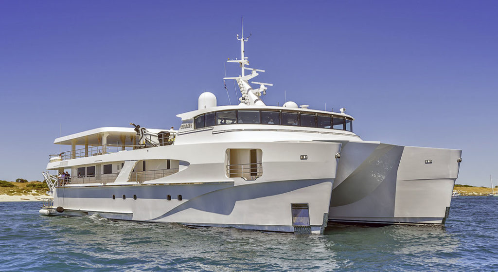 Charley Echo Yachts; a new catamaran Yacht Support Vessel signed in 2020 will have a similar superyacht profile
