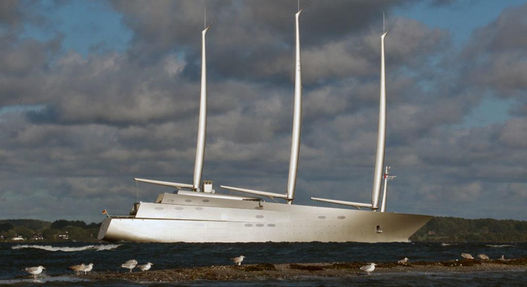 Sailing Yacht A Heads For The Horizon Megayacht News