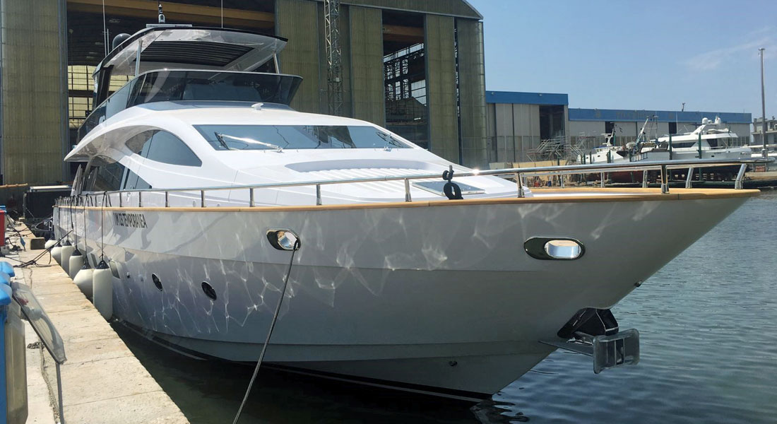 Amer Yachts megayacht Amer 94 hull number four