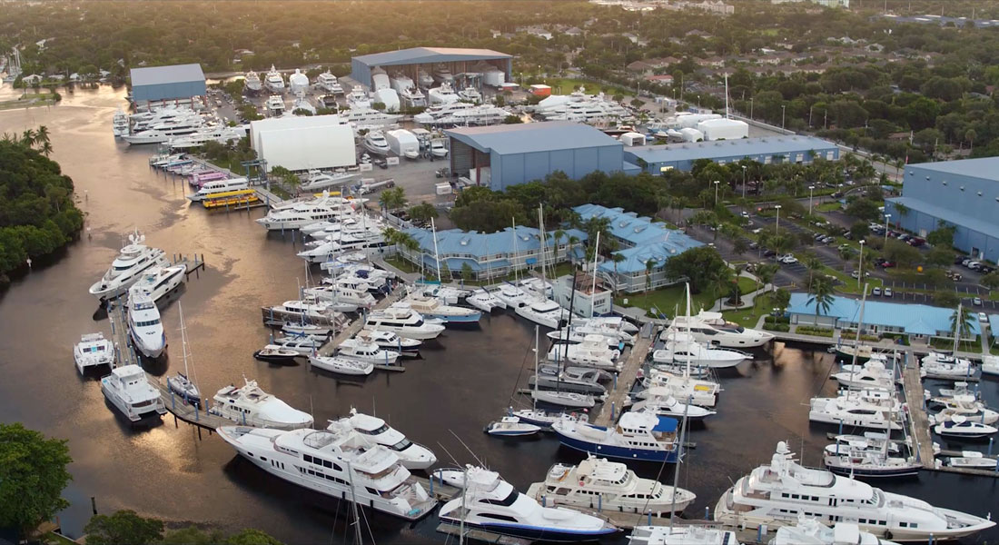 Lauderdale Marine Center megayacht foreign trade zone