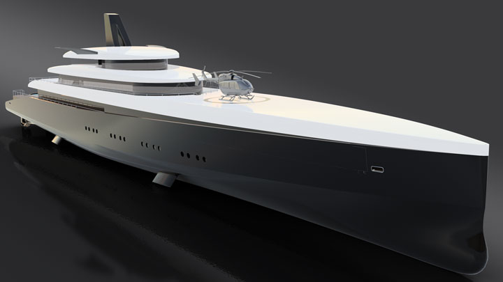 Laurent Giles HEMY concept for megayacht