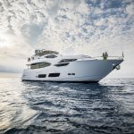 Sunseeker 95 Yacht megayacht at anchor