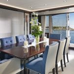 Sunseeker 95 Yacht dining area