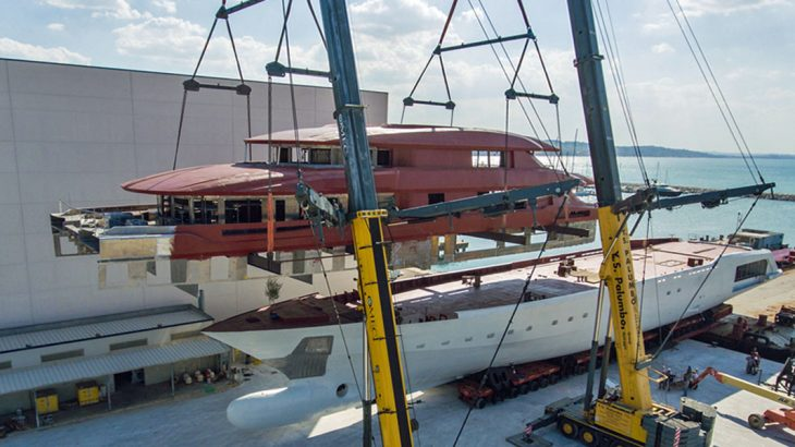 columbus 80m comes together slideshow megayacht news