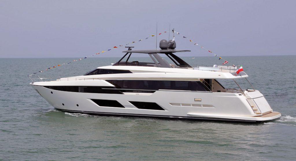 Ferretti 920 megayacht launch
