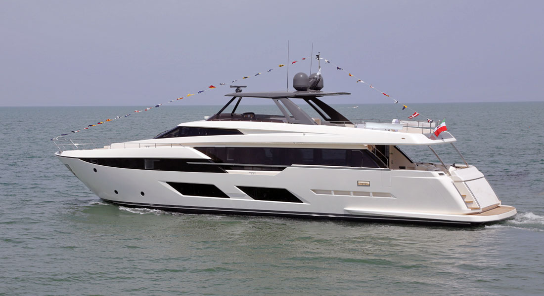 Ferretti 920 megayacht launch