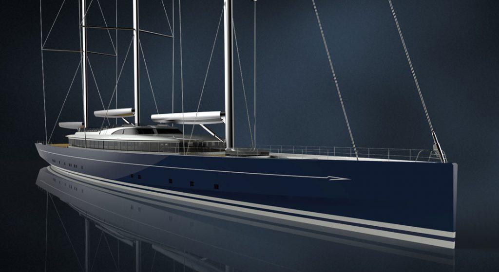 Royal Huisman Project 400 superyacht rendering