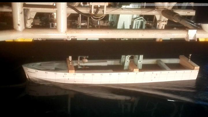54M Baglietto megayacht hull 10231 tank test