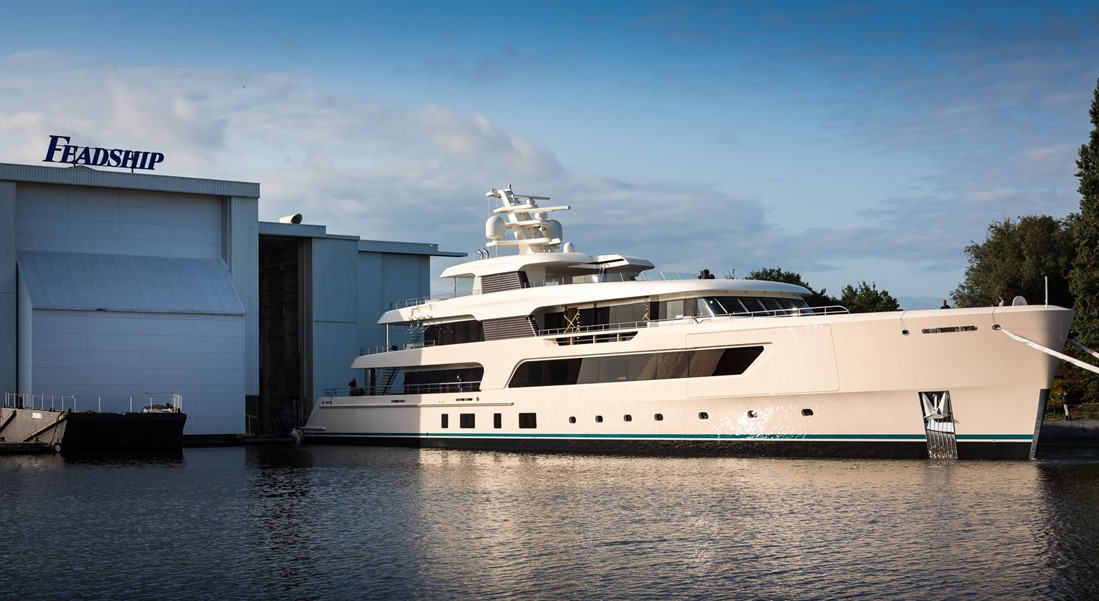 Feadship 696 Slips Into the Water