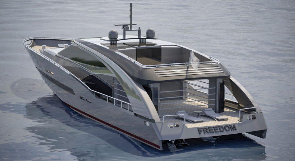 Roberto Cavalli megayacht Freedom CCN 27m Fuoriserie