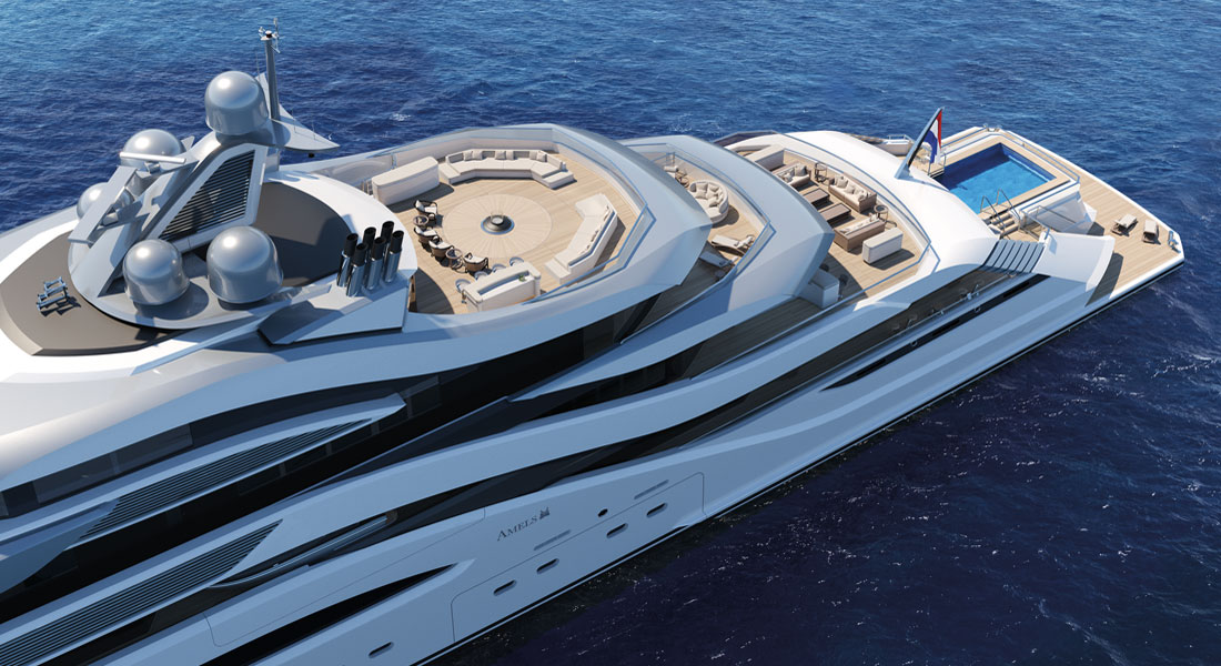 Pollux, Mega Project Proposed by Amels & H2 Yacht Design