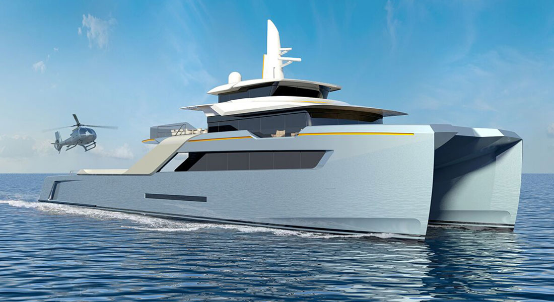 Project Echo superyacht support vessel adventure yacht Echo Yachts