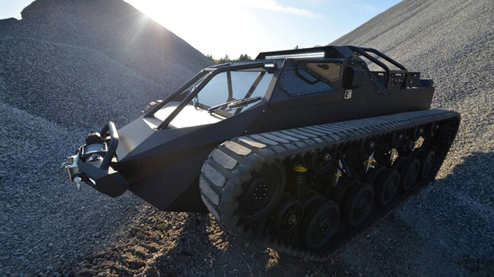 Ripsaw EV2 for Project Ragnar superyacht conversion