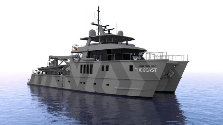The Beast superyacht catamaran