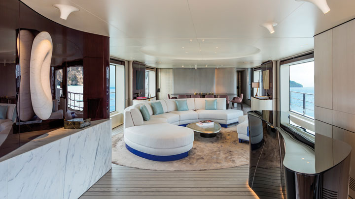 Azimut Grande 35 Metri megayacht is among the projects showcased in the Azimut Virtual Lounge
