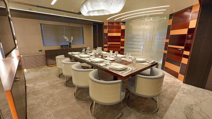 Bilgin Yachts Nerissa superyacht dining area