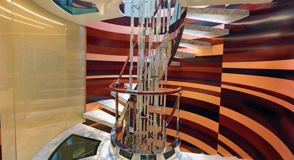 Bilgin Yachts Nerissa superyacht stairway